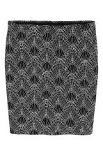 Glittery skirt - Black/Silver - Ladies | H&M CN 2