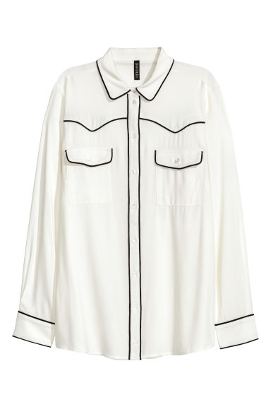 Shirt - White - Ladies | H&M CN 1