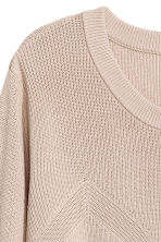 Knitted jumper - Light beige - Ladies | H&M CN 3