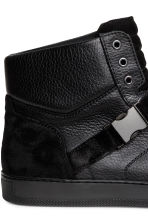 Leather and suede hi-tops - Black - Men | H&M CN 4