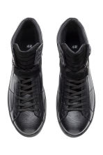Leather and suede hi-tops - Black - Men | H&M CN 2