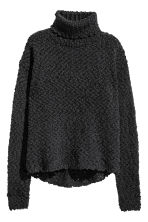 Knitted polo-neck jumper - Black - Kids | H&M CN 2