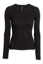 Ribbed top - Black - Ladies | H&M GB 2