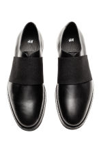 Leather shoes with elastic - Black - Men | H&M CN 2