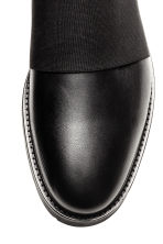 Leather shoes with elastic - Black - Men | H&M CN 3
