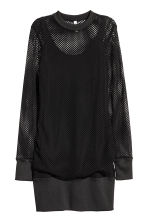 Mesh dress - Black - Ladies | H&M CN 2