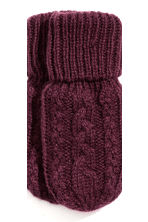 Hat and mittens - Plum - Kids | H&M CN 3