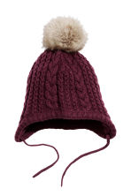Hat and mittens - Plum - Kids | H&M CN 2