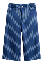 Denim culottes - Navy blue/Striped - Ladies | H&M GB 2