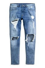 Skinny Regular Trashed Jeans - Bleu denim - HOMME | H&M FR 2