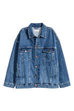 Oversized denim jacket - Dark denim blue - Ladies | H&M GB 2