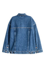 Oversized denim jacket - Dark denim blue - Ladies | H&M GB 3
