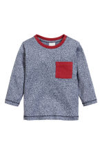 2-pack long-sleeved T-shirts - Dark blue marl - Kids | H&M CN 2