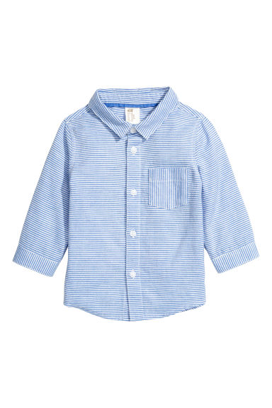 Cotton shirt - Blue/Striped -  | H&M CN 1