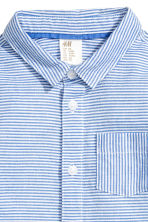 Cotton shirt - Blue/Striped -  | H&M CN 2