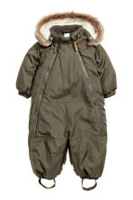 Padded all-in-one suit - Khaki green - Kids | H&M CN 1