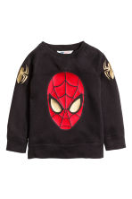 Felpa con stampa - Nero/Spiderman - BAMBINO | H&M IT 2