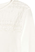 Jersey top with lace - White - Kids | H&M CN 3
