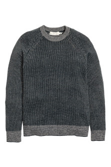 Wool-blend knitted jumper