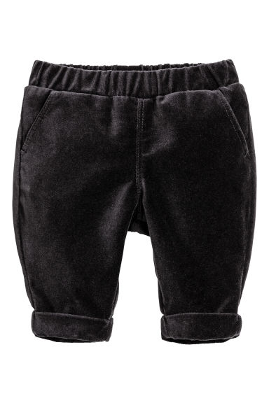 Velvet trousers - Nearly black - Kids | H&M CN 1
