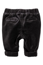Velvet trousers - Nearly black - Kids | H&M CN 2
