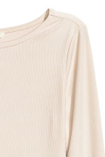 Ribbed top - Light beige - Ladies | H&M CN 2