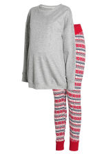 MAMA Pyjamas - Grey/Red - Ladies | H&M GB 2