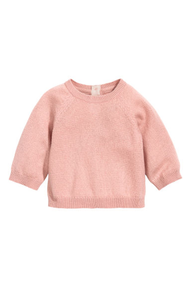 Fine-knit cashmere jumper - Powder pink - Kids | H&M CN