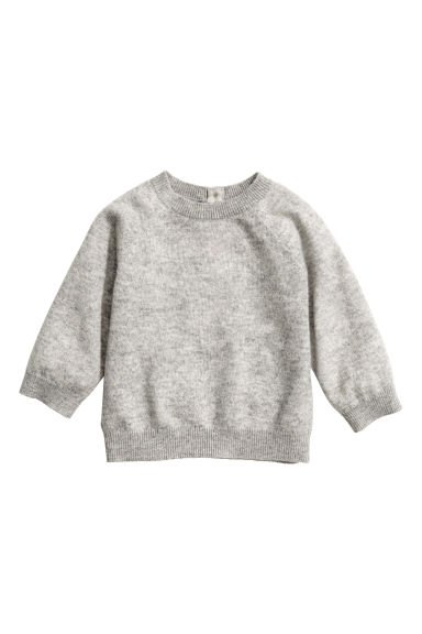 Fine-knit cashmere jumper - Grey marl - Kids | H&M CN 1