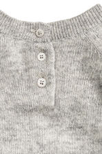 Fine-knit cashmere jumper - Grey marl - Kids | H&M CN 3