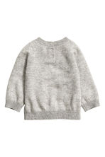 Fine-knit cashmere jumper - Grey marl - Kids | H&M CN 2