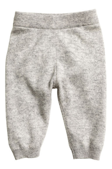Fine-knit cashmere trousers - Grey marl - Kids | H&M CN 1