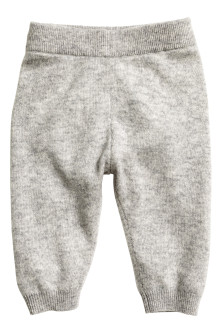 Fine-knit cashmere trousers