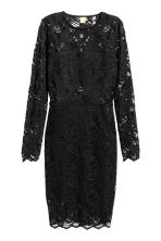 Knee-length lace dress - Black - Ladies | H&M CN 2