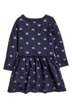 Jersey dress - Dark blue/Heart -  | H&M CN 2