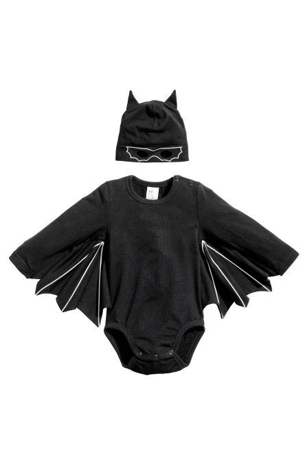 Bat bodysuit and hat
