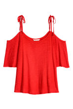 Cold shoulder top - Red - Ladies | H&M CN 2
