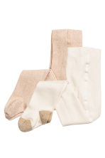 2-pack tights - Natural white - Kids | H&M CN 1