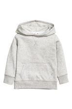 Hooded top - Light grey marl - Kids | H&M CN 2