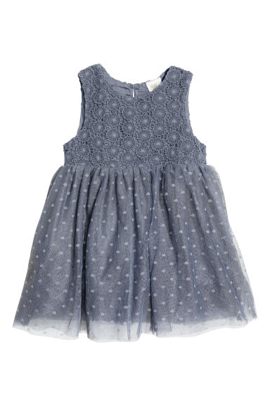 Tulle dress - Dark grey - Kids | H&M CN 1