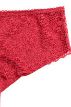 Lace and mesh hipster briefs - Red - Ladies | H&M CN 3