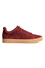 Suede trainers - Dark red - Ladies | H&M CN 2