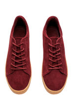 Suede trainers - Dark red - Ladies | H&M CN 3