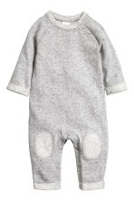Sweatshirt romper suit - Grey marl - Kids | H&M CN 1
