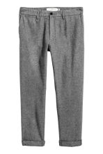 Cropped suit trousers - Dark grey marl - Men | H&M CN 2