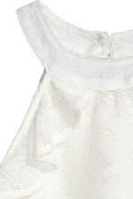 Frilled lace top - Natural white -  | H&M CN 4