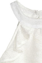 Frilled lace top - Natural white -  | H&M CN 3