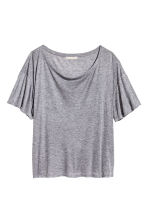Top in a silk blend - Grey marl - Ladies | H&M CN 2