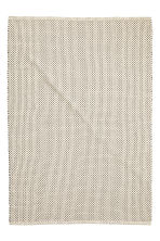 Jacquard-weave cotton rug - White/Anthracite - Home All | H&M CN 2
