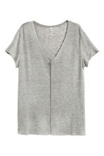 V-neck top - Grey - Ladies | H&M CN 2